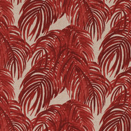 Villa Palm Garnet Red Rod Pocket Curtain Panels