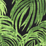Villa Palm Cayman Green Rod Pocket Curtain Panels