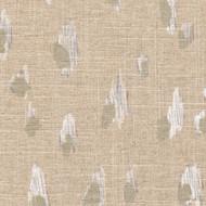 Asher Chalk White Metallic Shower Curtain