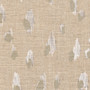 Asher Chalk White Metallic Tailored Valance, Lined