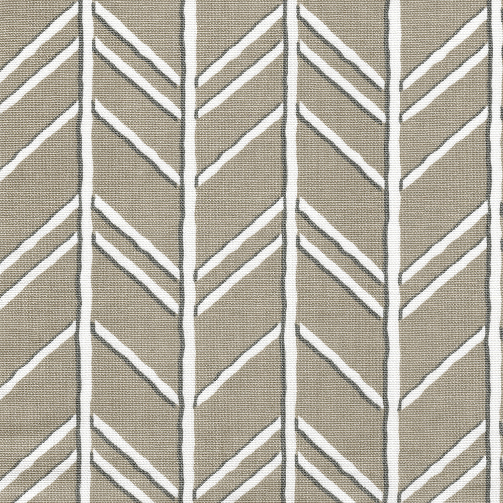 Bogatell Cove Taupe Geometric Shower Curtain Close To