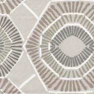 Charm Ecru Geometric Shower Curtain
