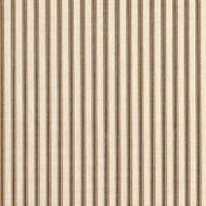 French Country Suede Brown Ticking Stripe Gathered Bedskirt