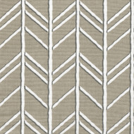 Bogatell Cove Taupe Geometric Tailored Valance, Lined