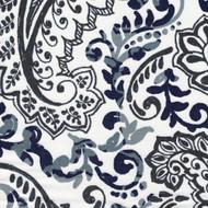 Shannon Vintage Indigo Floral Paisley Rod Pocket Curtain Panels