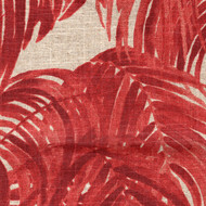 Villa Palm Garnet Red Round Tablecloth