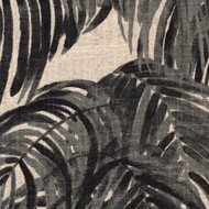 Villa Palm Granite Black Round Tablecloth