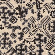 Nomad Granite Black Metallic Round Tablecloth