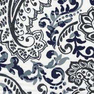 Shannon Vintage Indigo Floral Paisley Round Tablecloth