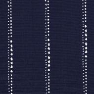 Carlo Vintage Indigo Stripe Round Tablecloth