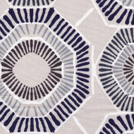 Charm Vintage Indigo Geometric Round Tablecloth