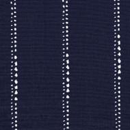 Carlo Vintage Indigo Stripe Scallop Valance, Lined
