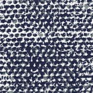 Zoey Vintage Indigo Geometric Scallop Valance, Lined