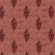 Boca Garnet Medallion Red Lattice Pinch-Pleated Curtain Panels