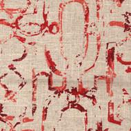 Miramar Garnet Geometric Red Lattice Pinch-Pleated Curtain Panels