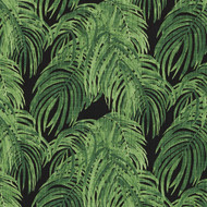 Villa Palm Cayman Green Tab Top Curtain Panels