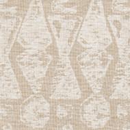 Juju Chalk White Geometric Tab Top Curtain Panels