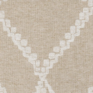 Medina Chalk White Diamond Pinch-Pleated Curtain Panels