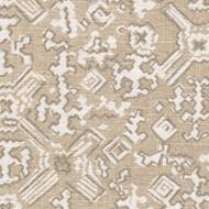 Nomad Chalk Geometric White Metallic Decorative Pillow