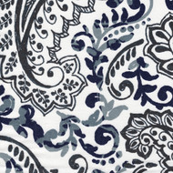 Shannon Vintage Indigo Floral Paisley Pinch-Pleated Curtain Panels