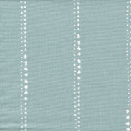 Carlo Spa Blue Stripe Pinch-Pleated Curtain Panels