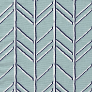 Bogatell Spa Blue Geometric Tab Top Curtain Panels