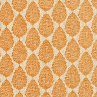 Jersey Ridgeland Orange Medallion Pinch-Pleated Curtain Panels