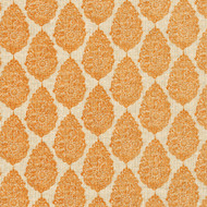 Jersey Ridgeland Orange Medallion Pinch-Pleated Patio Door Curtain Panels
