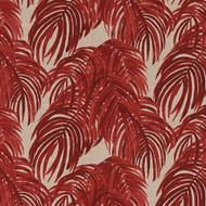 Villa Palm Garnet Red Bradford Valance, Lined
