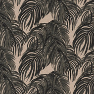 Villa Palm Granite Black Neck Roll Pillow