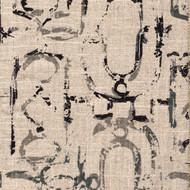 Miramar Granite Black Geometric Bolster Pillow