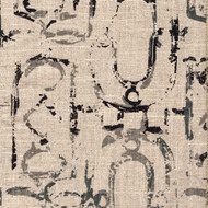 Miramar Granite Black Geometric Neck Roll Pillow