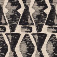 Juju Granite Black Geometric Neck Roll Pillow