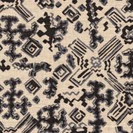 Nomad Granite Metallic Black Geometric Neck Roll Pillow