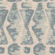 Juju Swedish Blue Geometric Neck Roll Pillow