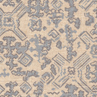 Nomad Swedish Blue Metallic Geometric Envelope Pillow