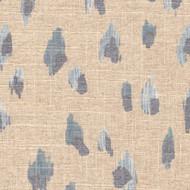Asher Swedish Blue Metallic Animal Print Neck Roll Pillow