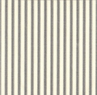 French Country Brindle Gray Ticking Stripe Quilted Coverlet