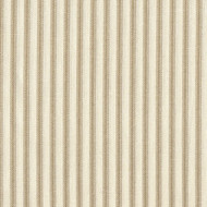 French Country Linen Beige Ticking Quilted Coverlet