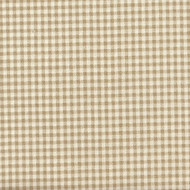 French Country Linen Beige Gingham Quilted Coverlet