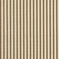 French Country Suede Brown Ticking Stripe Quilted Coverlet