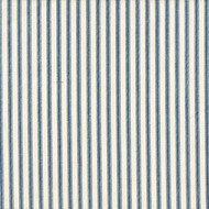 French Country Nautical Blue Ticking Stripe Quilted Coverlet