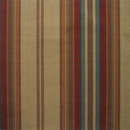 Carlton Stripe Cardinal Round Tablecloth with Topper