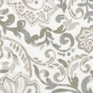 Shannon Ecru Floral Paisley Quilted Coverlet