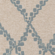 Medina Swedish Blue Round Tablecloth