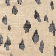 Asher Granite Metallic Gray & Silver Animal Print Gathered Bedskirt