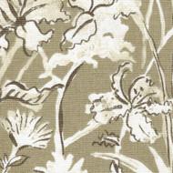 Garden Party Sand Floral Beige Shower Curtain