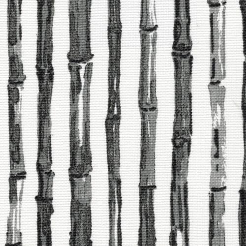 Bamboo Stripe Ink Nature Print Gray Shower Curtain