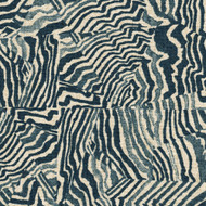 Agate Indigo Geometric Blue Gathered Bedskirt