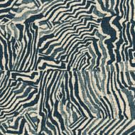 Agate Indigo Geometric Blue Gathered Bedskirt